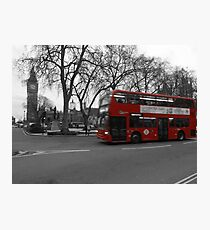 Little Red Bus Photographic Print