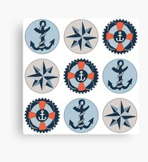 Nautical Adventures: Icons Canvas Print