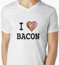 I BEANS BACON Men's V-Neck T-Shirt