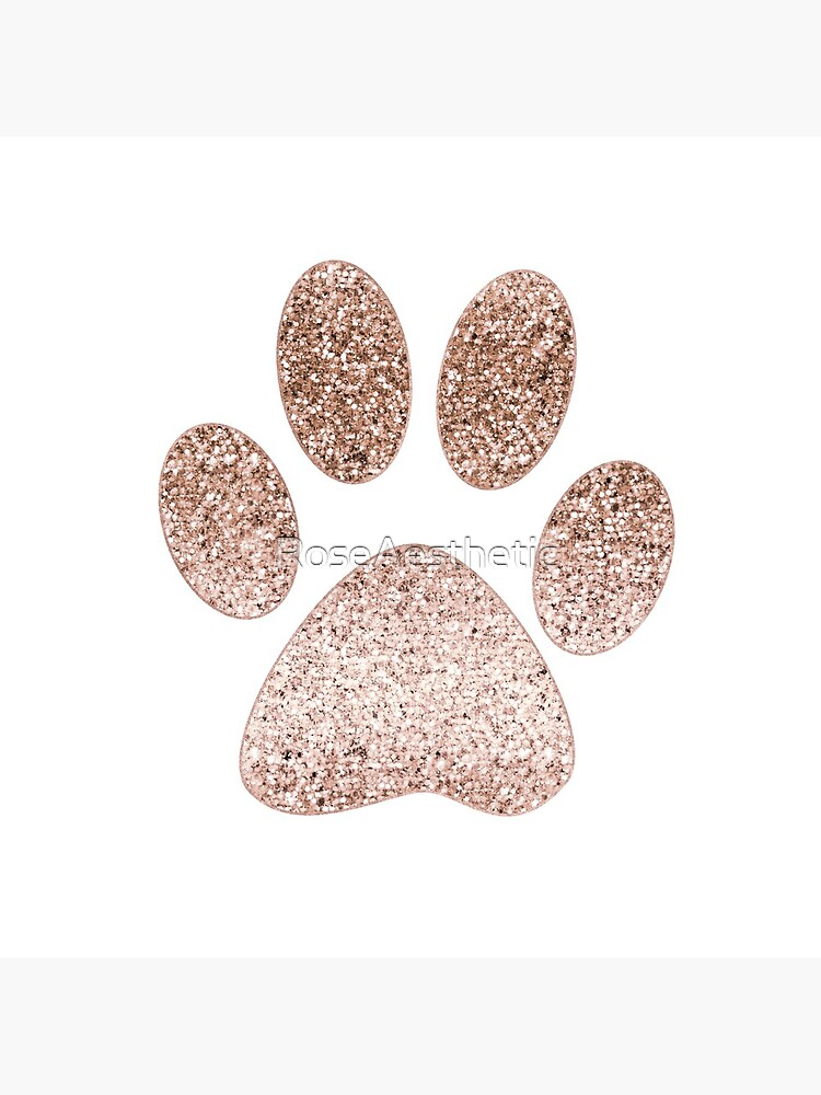 Sparkling rose gold paw print by RoseAesthetic