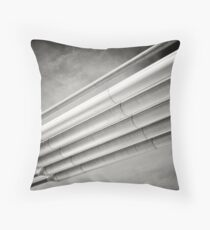 steel and sky Throw Pillow