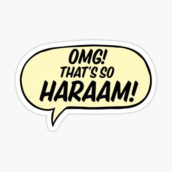 SO HARAAM bubble Sticker