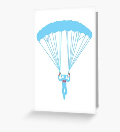 suicide skydive Greeting Card