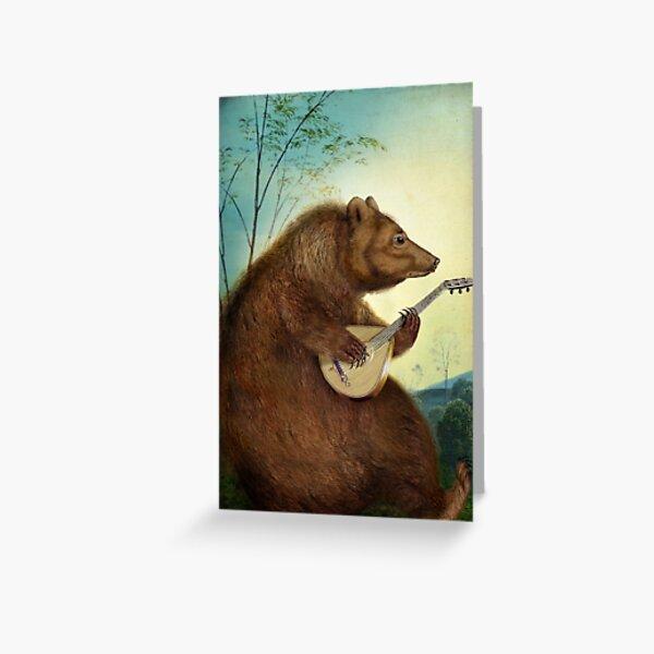 Mandolin Bear Greeting Card