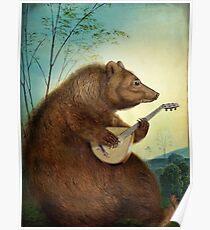 Mandolin Bear Poster