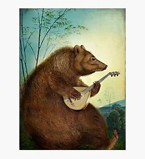 Mandolin Bear Photographic Print