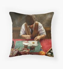 Clockmaker - A demonstration in Horology  Throw Pillow