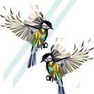 Fliegende Singvögel - Blue Tits von XOOXOO
