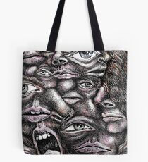 Morphing Faces Tote Bag