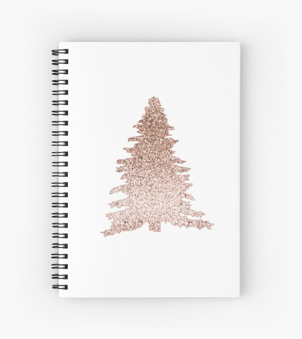 sparkling rose gold christmas tree by roseaesthetic