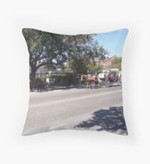 Mule Buggies Throw Pillow