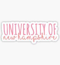 university of new hampshire Sticker