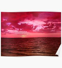 Day Ends In Fuschia Poster