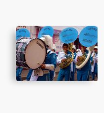 Marching band in Cholula, Mexico Canvas Print