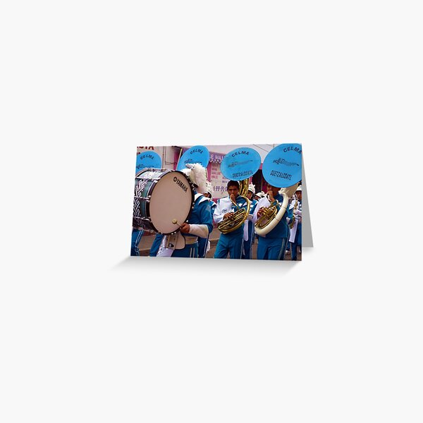 Marching band in Cholula, Mexico Greeting Card