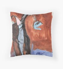 troublesome creatures series 2 of 3 Throw Pillow