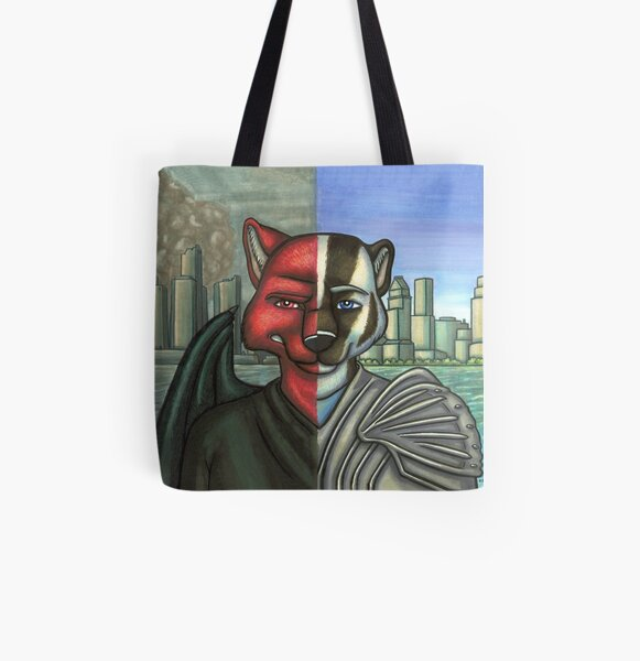 Duality All Over Print Tote Bag