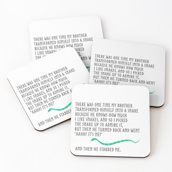 And Then He Stabbed Me. Coasters (Set of 4)