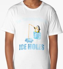 Ice Fishing Penguin Long T-Shirt