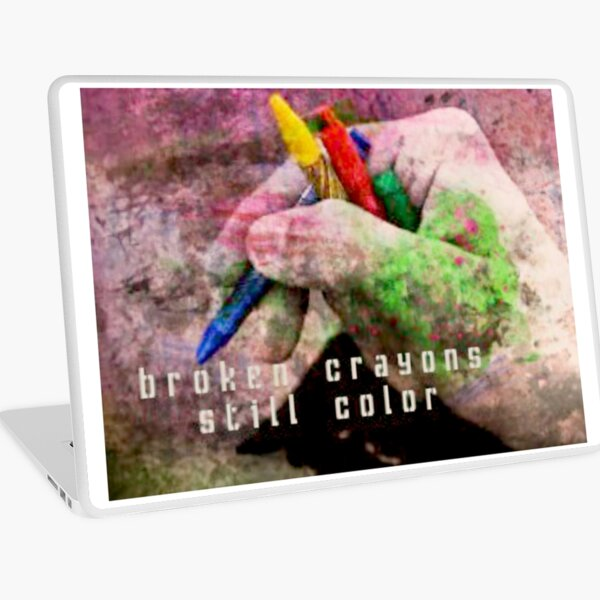 Broken Crayons Still Color Laptop Skin
