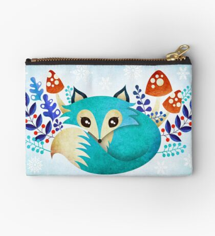 Winter Fox Zipper Pouch
