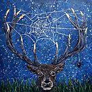 Deer vs Spider by Rachelle Dyer