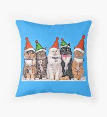 Jingle Cats Throw Pillow