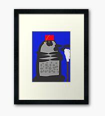 dalek fez and mop Framed Print
