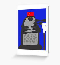 dalek fez and mop Greeting Card