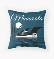 Minnesota Loon Throw Pillow