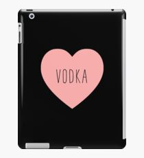 I Love Vodka Heart Black iPad Case/Skin