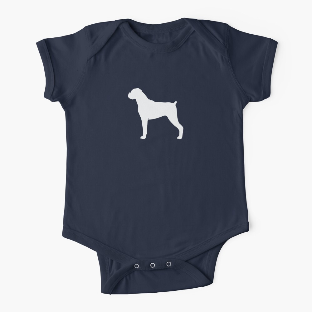 Boxer Dog Silhouette(s) Floppy Ears Baby One-Piece