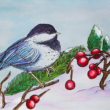 Chickadee - Winter Bird 1 by FontaineN