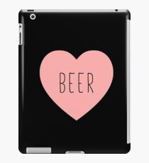 I Love Beer Heart Black iPad Case/Skin