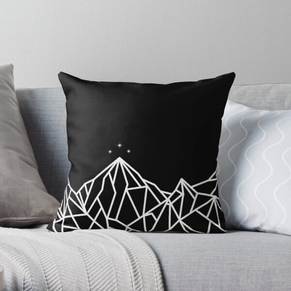 NIGHT COURT MOUNTAINS  Throw Pillow