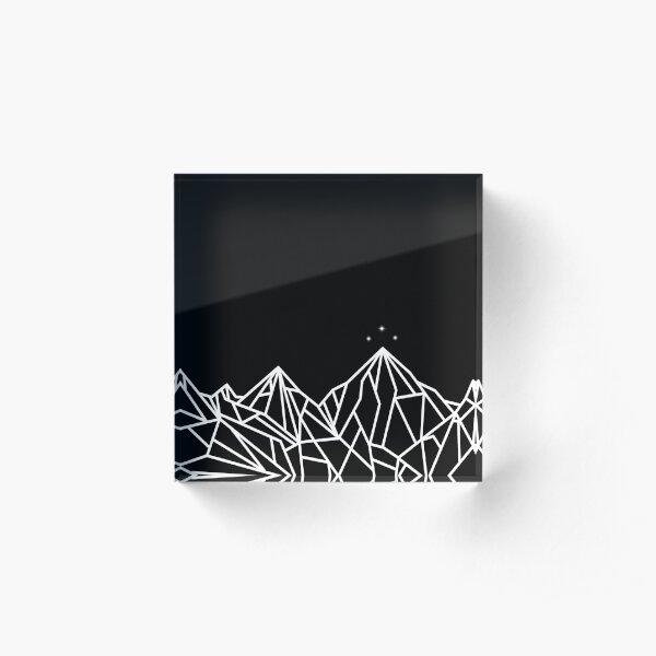 NIGHT COURT MOUNTAINS  Acrylic Block