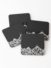 NIGHT COURT MOUNTAINS  Coasters