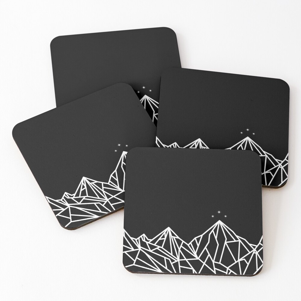 NIGHT COURT MOUNTAINS  Coasters (Set of 4)
