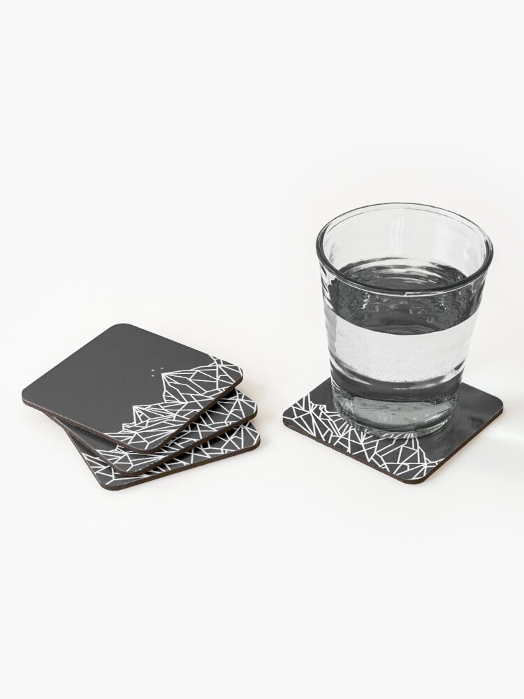 Alternate view of NIGHT COURT MOUNTAINS  Coasters (Set of 4)