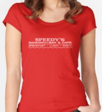 Speedy's Sandwich Bar on Baker Street Women's Fitted Scoop T-Shirt