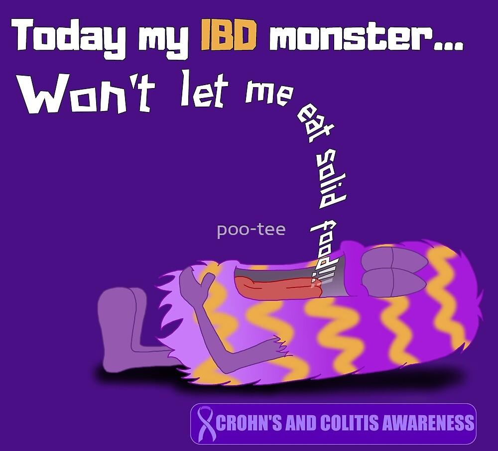 IBD Monster, solid food - Crohn's and Colitis Awareness by poo-tee