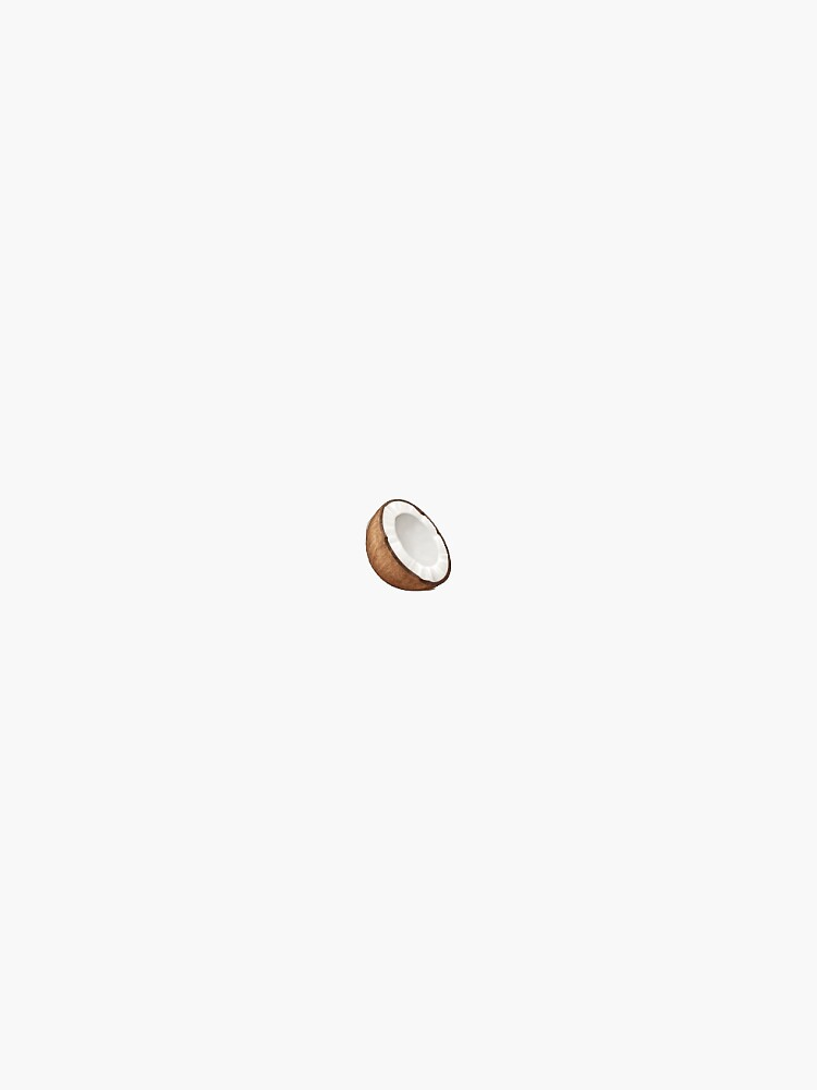 kleine Kokosnuss von stickersnstuff