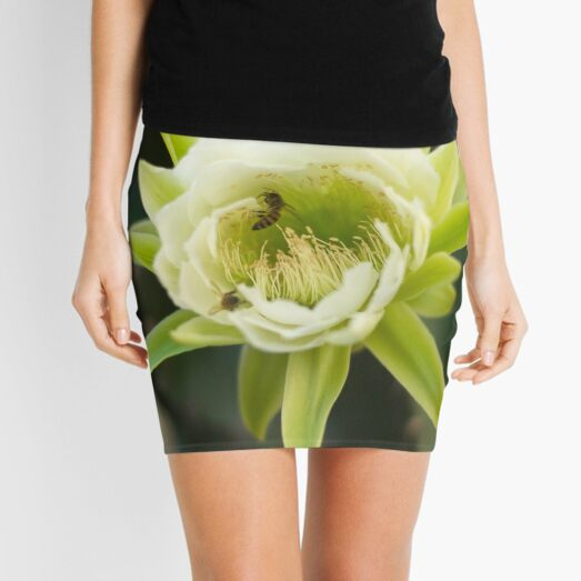 Princess of the Night - Bloom with Playful Bees Mini Skirt