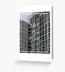 Troye Sivan Art is Risk Greeting Card