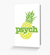 Psych Pineapple Greeting Card