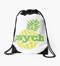 Psych Pineapple Drawstring Bag