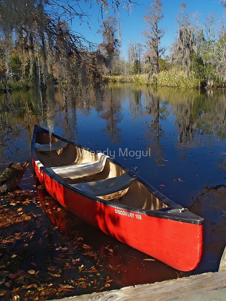 Red Canoe by Wendy Mogul