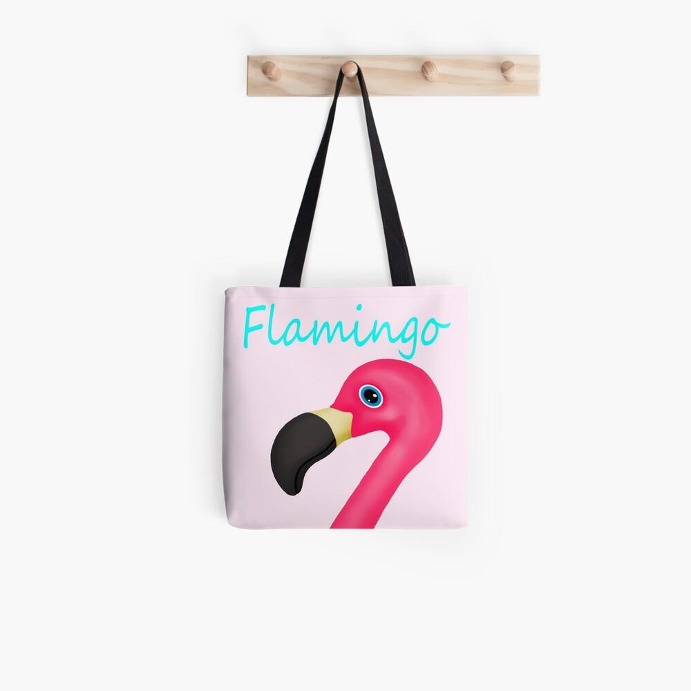 Pink and Teal Flamingo Tote Bag