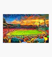 Twilight Fenway Park Photographic Print