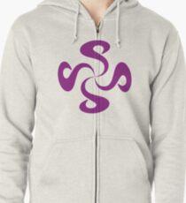 SheeArtworks Spiral Purple - Shee Vector Shape Zipped Hoodie